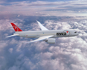 Northwest AIrlines 787, file photo from their website
