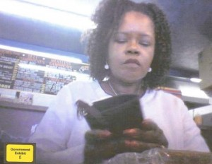 The FBI released a video image of Senator Dianne Wilkerson allegedly taken Aug. 2, 2007, at the Fill-A-Buster restaurant. (Photo by the FBI, by way of The Boston Globe)