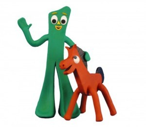 Gumby and his sidekick Pokey